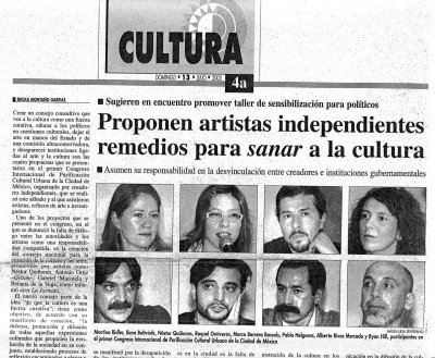 La Jornada Newspaper, Mexico City, July 13, 2003