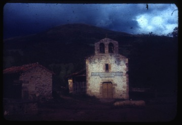 Ignacio Helguera / Pablo Helguera - Village of Helguera, Cantabria, 1951 ektachrom slide/video still, 2008
